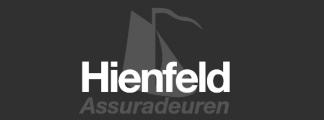 logo hienfeld verzekeringen grijs